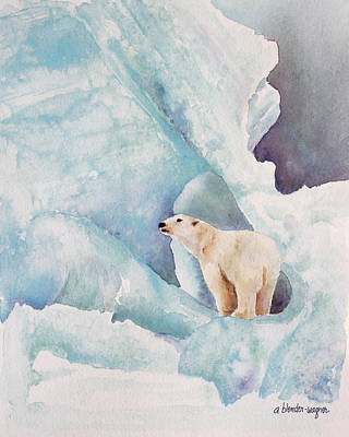 Bear Painting - Life In The Arctic Circle by Arline Wagner