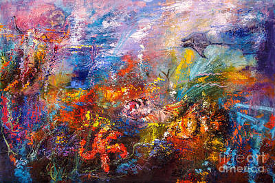 Painting - Life In The Coral Reef Oil Painting By Ginette by Ginette Callaway