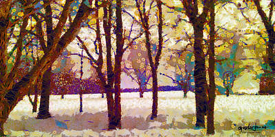Life In The Dead Of Winter Art Print by Gustav James
