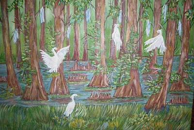 Art Print featuring the painting Life In The Delta by Belinda Lawson