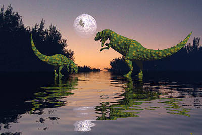 Life In The Swamp Art Print by Claude McCoy