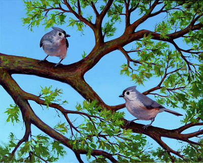 Wall Art - Painting - Life In The Trees by Vicki Van Vynckt