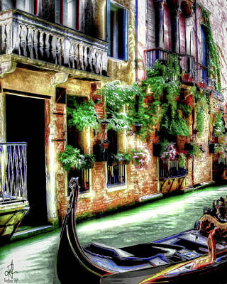 Digital Art - Life In Venice by Pennie McCracken