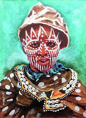 Indian Tribal Art Painting - Life In Wild by Jagadish Gadagin