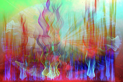 Print featuring the digital art Life Is A Beautiful Mystery by Linda Sannuti