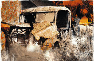 Junk Painting - Life Is A Highway by Bob Salo