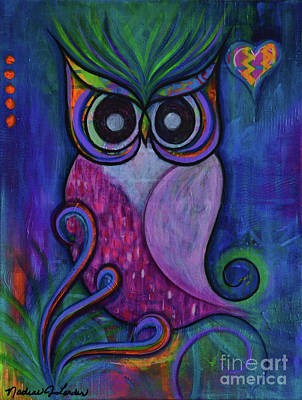 Painting - Life Is A Hoot by Nadine Larder