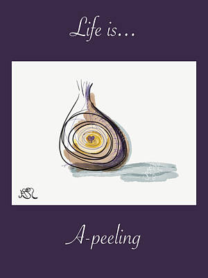 Life Is A-peeling Art Print
