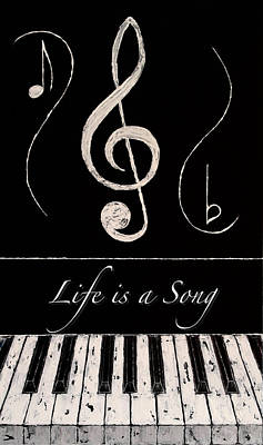 Life Is A Song Art Print by Wayne Cantrell