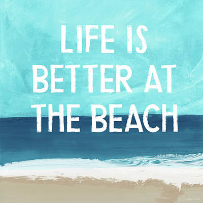 Mixed Media - Life Is Better At The Beach- Art By Linda Woods by Linda Woods
