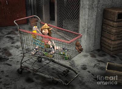 Digital Art - Life Is Hard by Jutta Maria Pusl