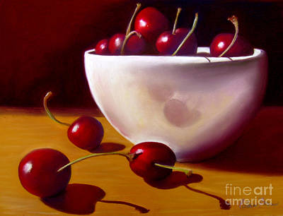 Life Is Just A Bowl Of Cherries Art Print by Colleen Brown