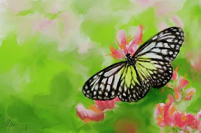 Life Is Like A Butterfly Art Print by Michael Greenaway