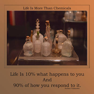 Chemical Mixed Media - Life Is More Than Chemicals by Thomas Woolworth