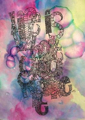 Arty Drawing - Life Is What You Make It by Alison Easdown