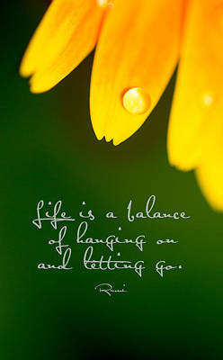 Photograph - Life Is...with Quote by Rebecca Cozart