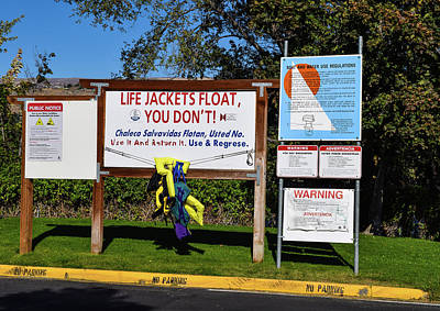 Photograph - Life Jackets Float by Tom Cochran