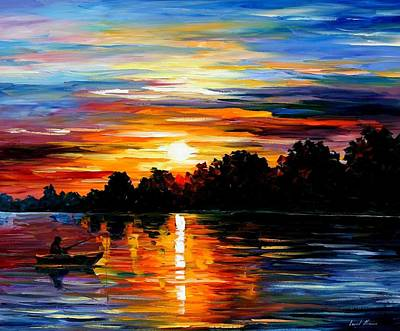 Yacht Painting - Life Memories by Leonid Afremov