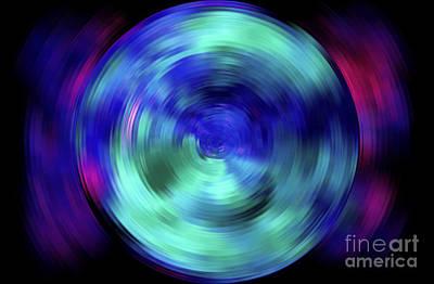 Multicolored Digital Art - Life Moves Fast by Krissy Katsimbras
