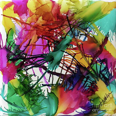 Splashy Painting - Life Of Color by Jo Ann Bossems