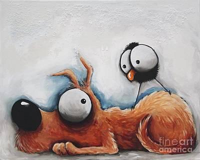 Life Of Dog Original by Lucia Stewart