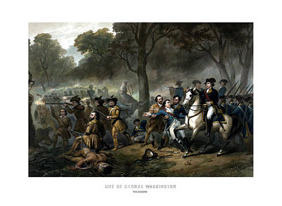 American Soldier Painting - Life Of George Washington - The Soldier by War Is Hell Store