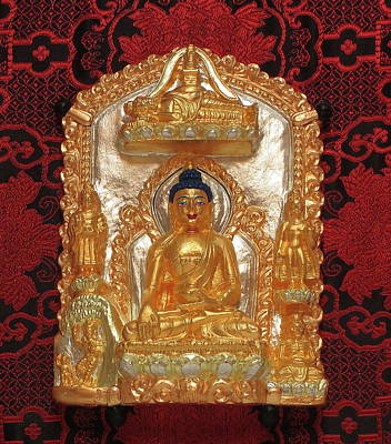 Sculpture - Life Of The Buddha by Martin Walker-Watson Gilding Arts Studio