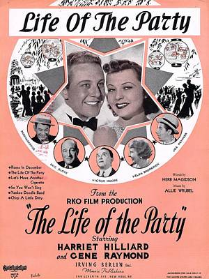 Old Sheet Music Photograph - Life Of The Party by Mel Thompson