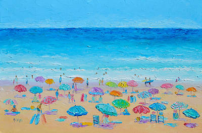 Sandy Beaches Painting - Life On The Beach by Jan Matson