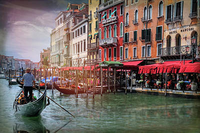 Photograph - Life On The Grand Canal Venice Italy  by Carol Japp