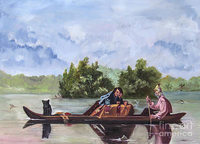 Painting - Life On The Missouri River by Nila Jane Autry