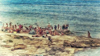 Digital Art - Life On The Rocks by Leigh Kemp