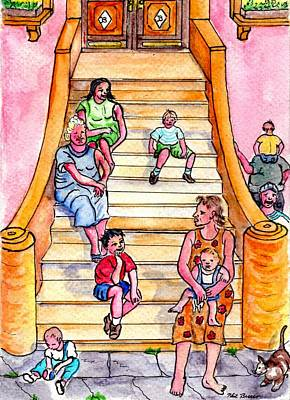 Painting - Life On The Stoop by Philip Bracco