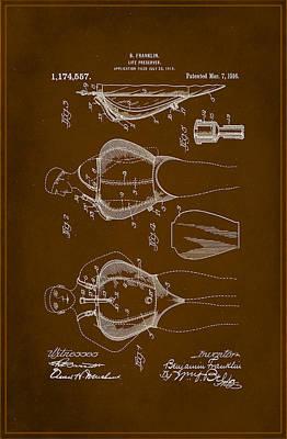 Life Preserver Patent Drawing 1c Art Print