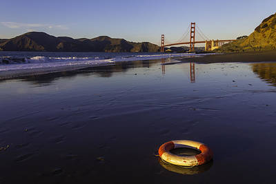 Life Ring Photograph - Life Ring And Golden Gate Bridge by Garry Gay