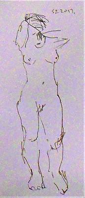 Ballerina Art - Life Sketch by Samuel Zylstra