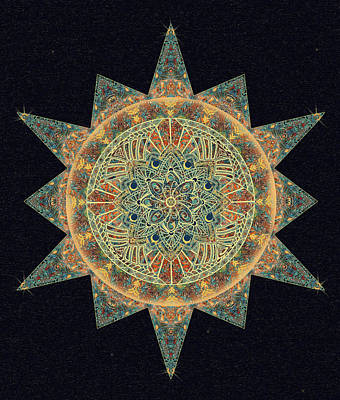 Digital Art - Life Star Mandala by Deborah Smith