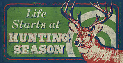 Painting - Life Starts Hunting Season by Bruce Miller