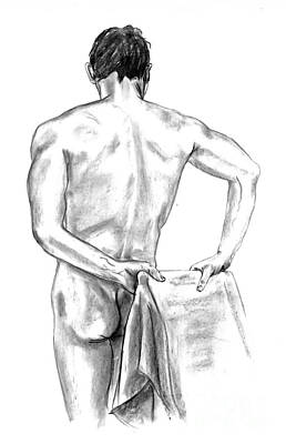 Male Nude Drawing Drawing - Life Study by Emma Spears