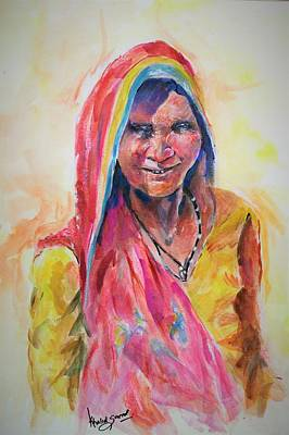 Painting - Life Style by Khalid Saeed
