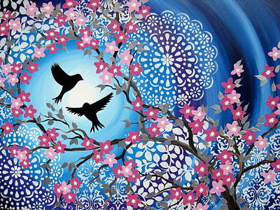 Cherry Blossoms Painting - Life Together by Cathy Jacobs