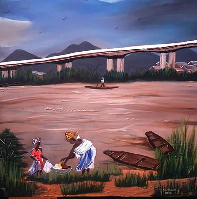 Life Under The Niger Bridge. Original by Emmanuel Anaiye Ifebunmi