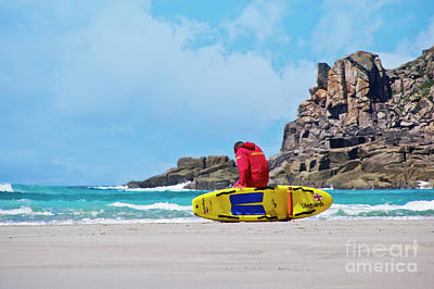 Photograph - Lifeguard At Gwenver by Terri Waters