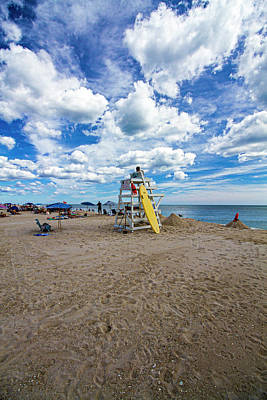 Photograph - Lifeguard At Pike's Beach by Robert Seifert