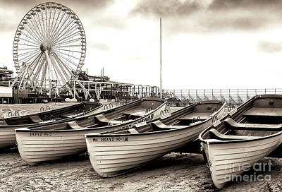 Lifeguard Boats At Wildwood Art Print