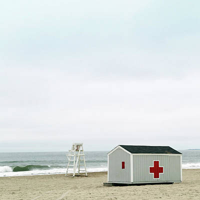 Photograph - Lifeguard Chair And First Aid Station by Brooke T Ryan