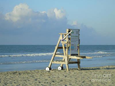 Photograph - Lifeguard Chair At Folly by Jennifer White