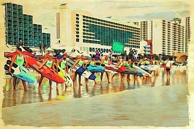 Photograph - Lifeguard Lineup by Alice Gipson