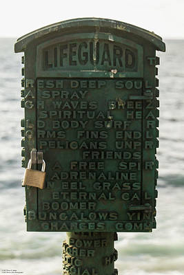 Photograph - Lifeguard Mystery  by Hany J