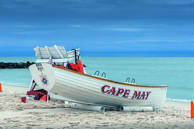 Photograph - Lifeguard Rescue Cape May by David Zanzinger